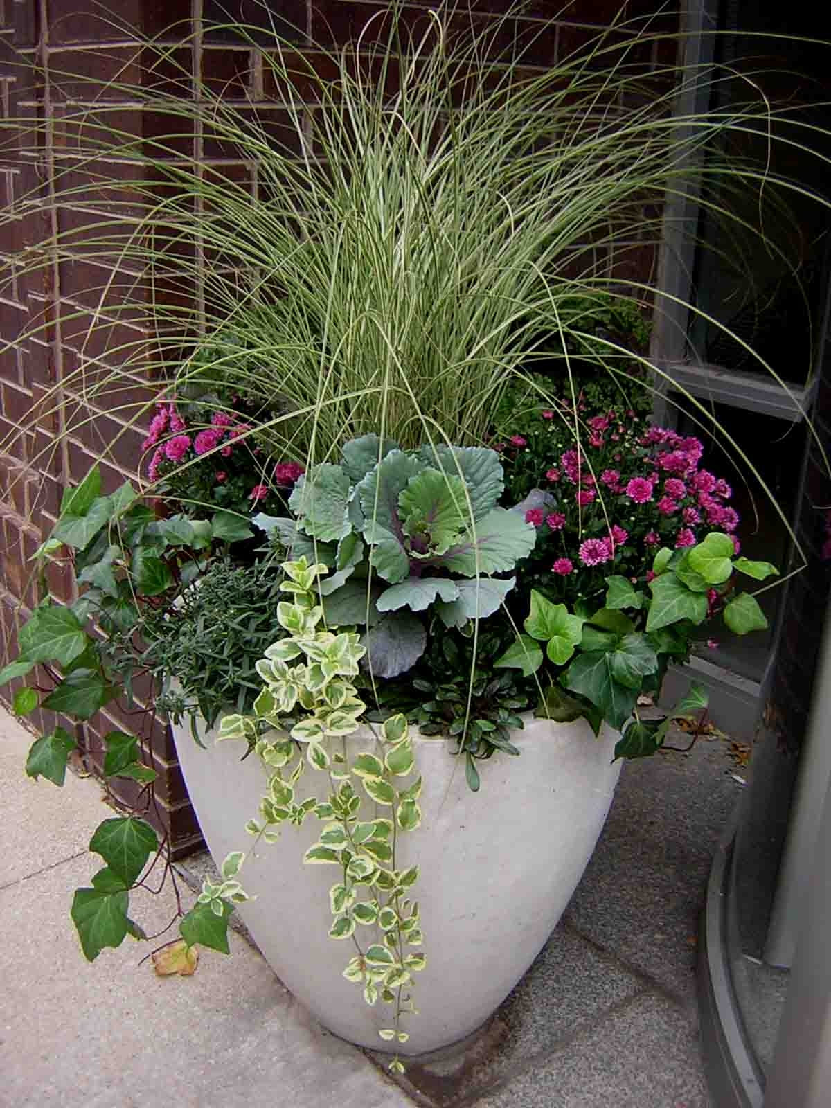 Fabulous fall flower containers for Garden planter ideas